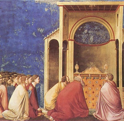Giotto Scrovegni [10] Prayer of the Suitors