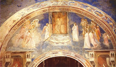Giotto Scrovegni [13] God Sends Gabriel to the Virgin
