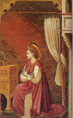 Giotto Scrovegni [15] The Virgin Receiving the Message