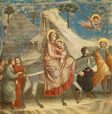 Giotto Scrovegni [20] Flight into Egypt