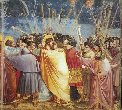 Giotto Scrovegni [31] Kiss of Judas