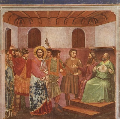 Giotto Scrovegni [32] Christ before Caiaphas