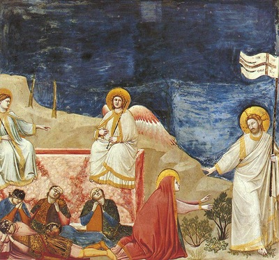 Giotto Scrovegni [37] Resurrection Noli me tangere