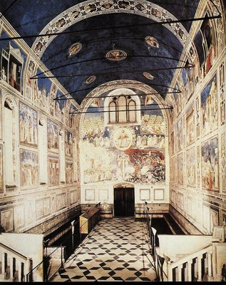 Giotto Scrovegni The Chapel viewed towards the entrance