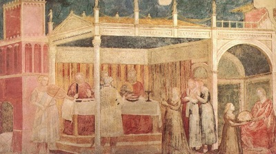 Giotto Life of St John the Baptist [03] Feast of Herod
