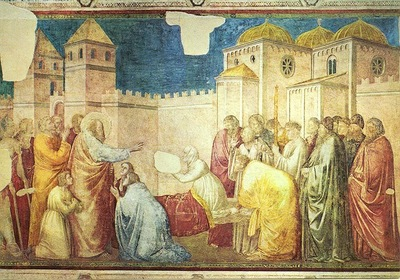Giotto Life of St John the Evangelist [02] Raising of Drusiana