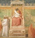 Giotto Life of Saint Francis [06] St Francis before the Sultan