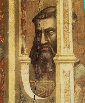Giotto Ognissanti Madonna Madonna in Maesta c1310 detail1