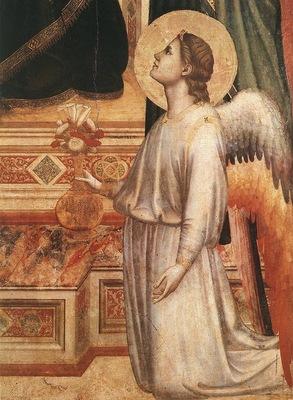 Giotto Ognissanti Madonna Madonna in Maesta c1310 detail2