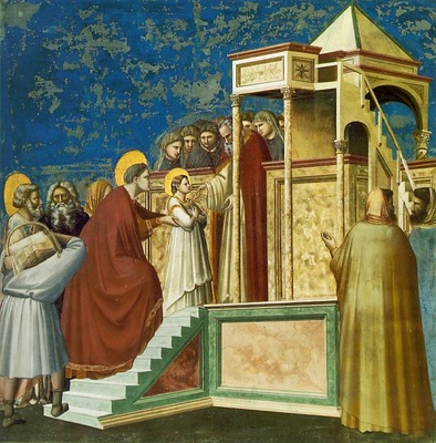 Giotto Presentation of the virgin, ca 1305, Fresco, Cappella