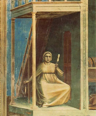 giotto scenes from the life of joachim  03  annunciation t