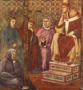 Giotto Legend of St  Francis  17  St  Francis Preaching Befo