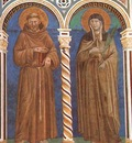 Giotto Saint Francis and Saint Clare, fresco, Upper Church o