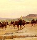 Girardet Eugene Alexis Caravanes De Sel Dans Le Desert