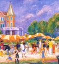 glackens beach umbrellas at blue point