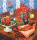 glackens still life with roses and fruit c1924