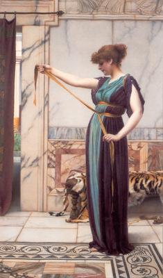 godward a pompeian lady