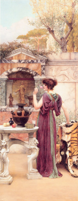 Godward At the Garden Shrine Pompeii