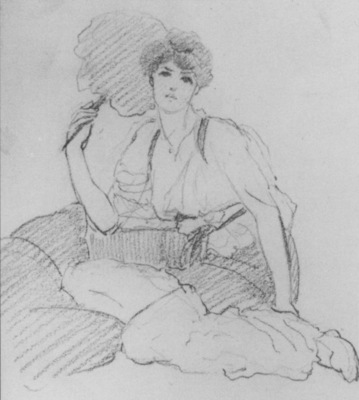 Godward Flabellifera pencil sketch