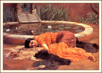 bs ahp John William Godward Dolce Far Niente