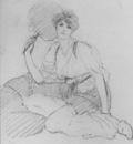 Godward Flabellifera pencil sketch