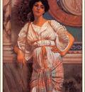 bs ahp John William Godward A Classical Beauty With A Peacock Fan