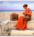 bs ahp John William Godward Song Without Words