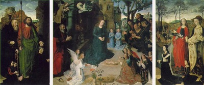 Goes The Portinari Triptych, ca 1475, 253x586 cm, Uffizi
