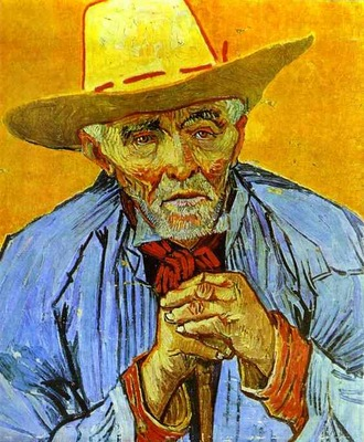 Portrait dun vieux paysan