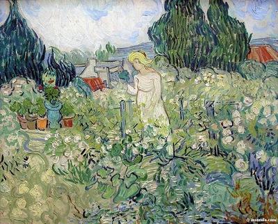 Mademoiselle Gachet au jardin