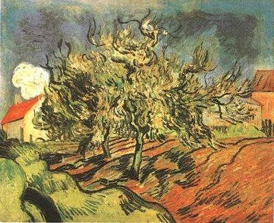 Paysage avec trois arbres