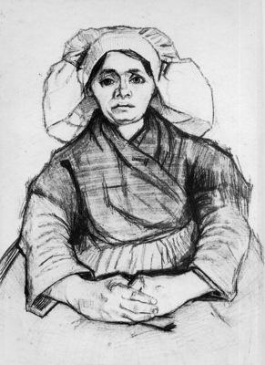 Gogh van Vincent Farmer woman Sun