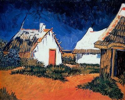 Gogh van Vincent Mas Blancs aux Saintes Maries Sun