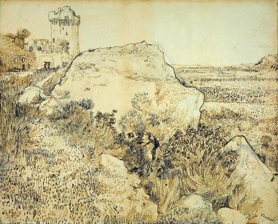 Gogh van Vincent Montmajour Sun