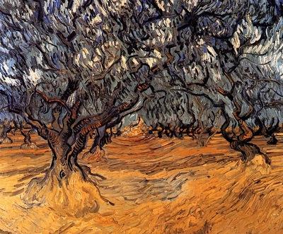 Gogh van Vincent Oliviers Sun
