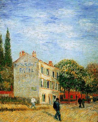 Gogh van Vincent Restaurant Rispal in Asnieres Sun