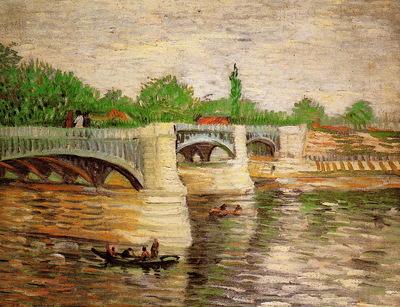 Gogh van Vincent The Seine and Pont de la Grande Jatte Sun