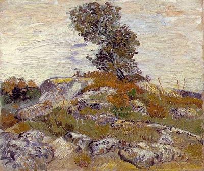 Van Gogh Rocks with Oak Tree
