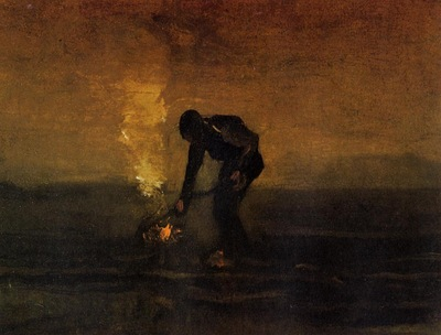 Van Gogh Vincent Peasant Burning Weeds