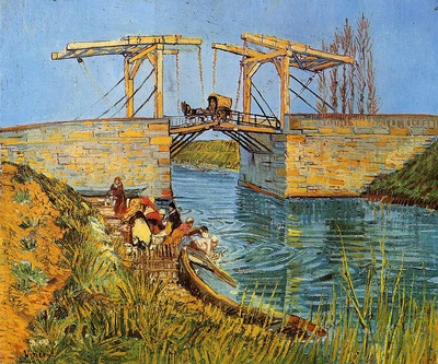 Van Gogh Vincent The Langlois Bridge at Arles with Women Washing