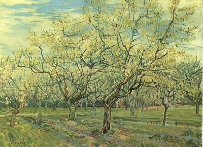 gogh orchard plum trees