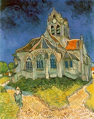 van Gogh Leglise dAuvers sur Oise, 1890, 94x74 cm, Musee d