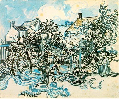 van Gogh Old Vineyard with Peasant Woman, 1890, 43 5x54 cm,
