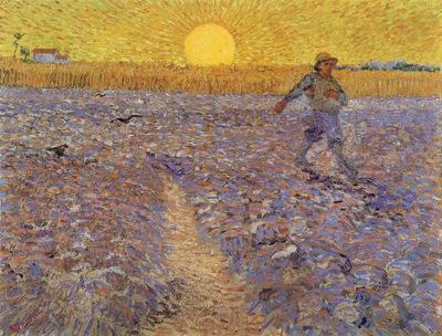 van Gogh Sower with setting sun, 1888, 64x80 5 cm, Rijksmuse