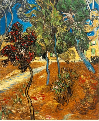 van Gogh Trees in the Asylum Garden, 1889, 73x60 cm, Private