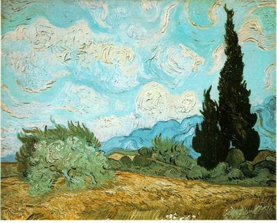 van Gogh Wheat field with cypresses, 1889, 51 5 x 65 cm, Pri