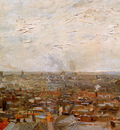 Gogh van Vincent View on Paris From Montmartre Sun