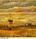 Republica SWD 010 Van Gogh Beach with Figures
