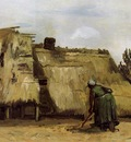 Van Gogh Vincent Cottage with Woman Digging