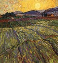 gogh wheat rising sun